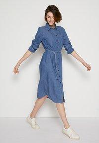TOM TAILOR DENIM - BELTED DRESS - Day dress - blue denim - 4