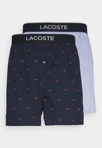Lacoste - 2PACK - Boxer shorts - navy blue/alizarin tropical - 3