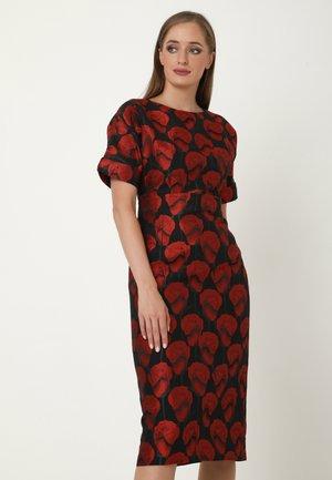 ALTEA - Etui-jurk - schwarz, rot