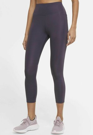 EPIC FAST CROP - Leggings - dark raisin