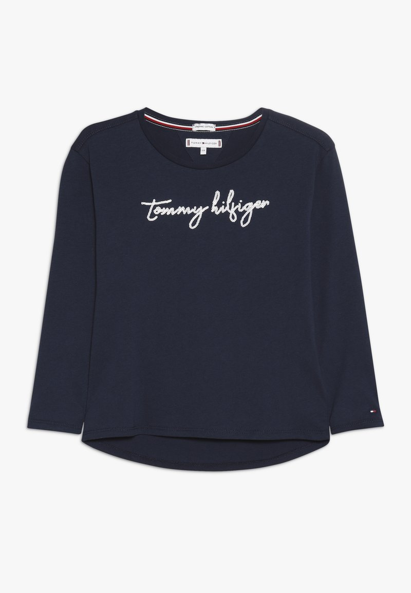 Tommy Hilfiger - SEQUINS GRAPHIC TEE  - Long sleeved top - blue