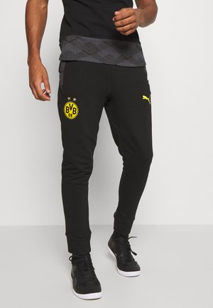 BVB BORUSSIA DORTMUND CASUALS PANTS - Club wear - black