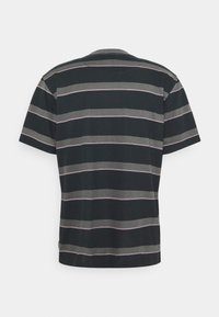 Afends - FIGHT STRIPE RETRO FIT TEE UNISEX - Print T-shirt - black - 1