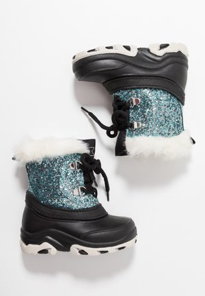 Winter boots - black/turquoise