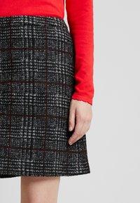 Esprit Collection - WINTER CHECK ME - Mini skirt - black - 5