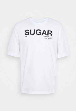SUGAR  - Print T-shirt - white/black