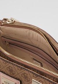 Guess - CANDACE SOCIETY SATCHEL - Handbag - brown - 4