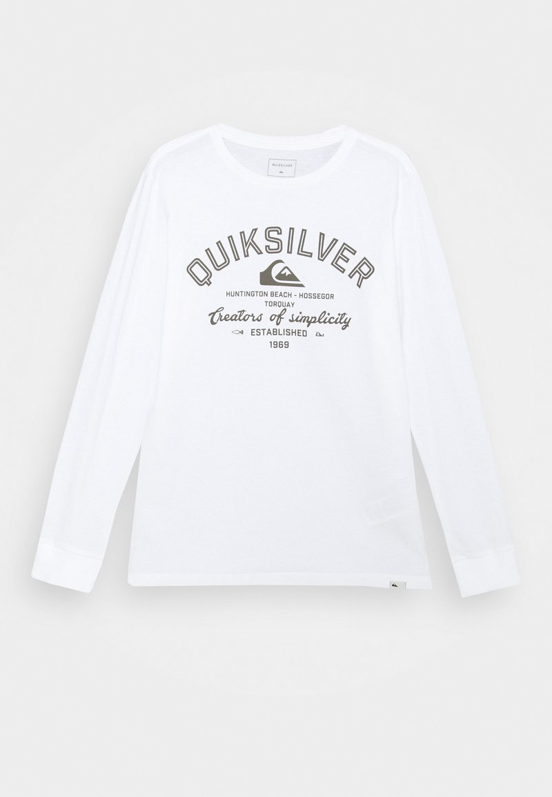 Quiksilver - SCREEN TEE - Long sleeved top - white