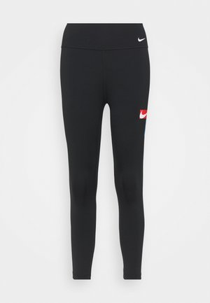 ONE CROP - Legginsy - black/photo blue/chile red/white