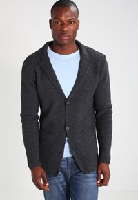 Pier One - Cardigan - mottled dark grey - 0