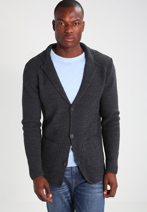 Cardigan - mottled dark grey