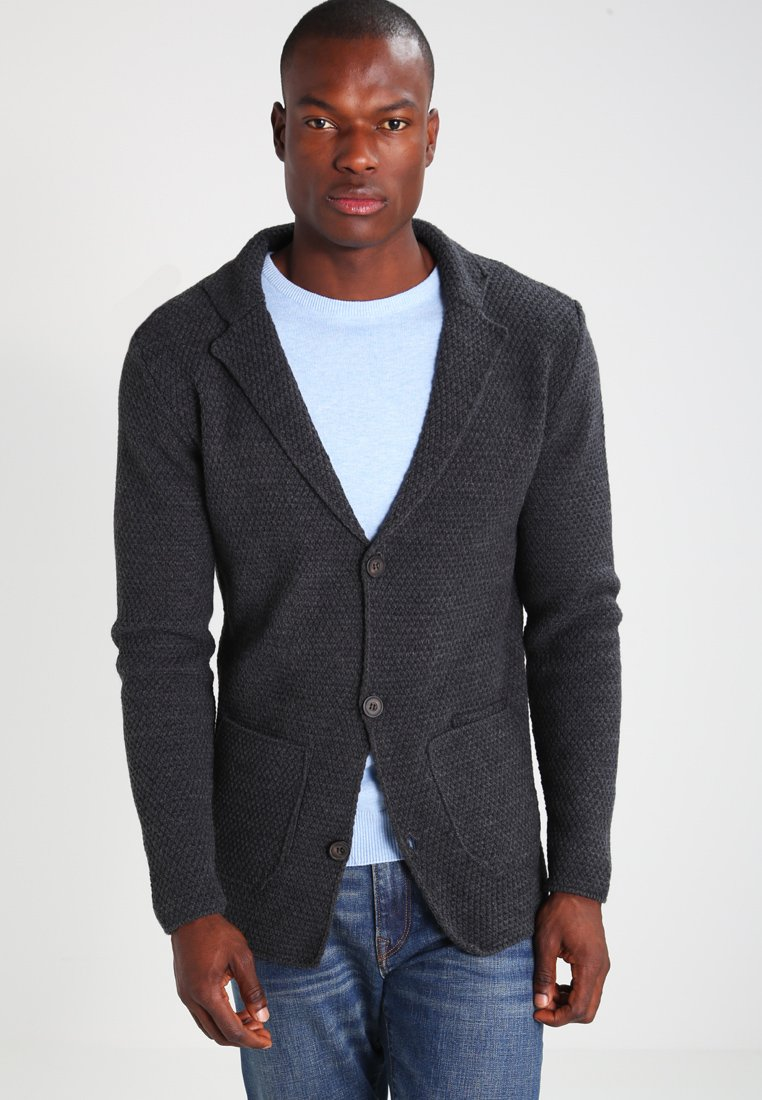 Pier One - Cardigan - mottled dark grey