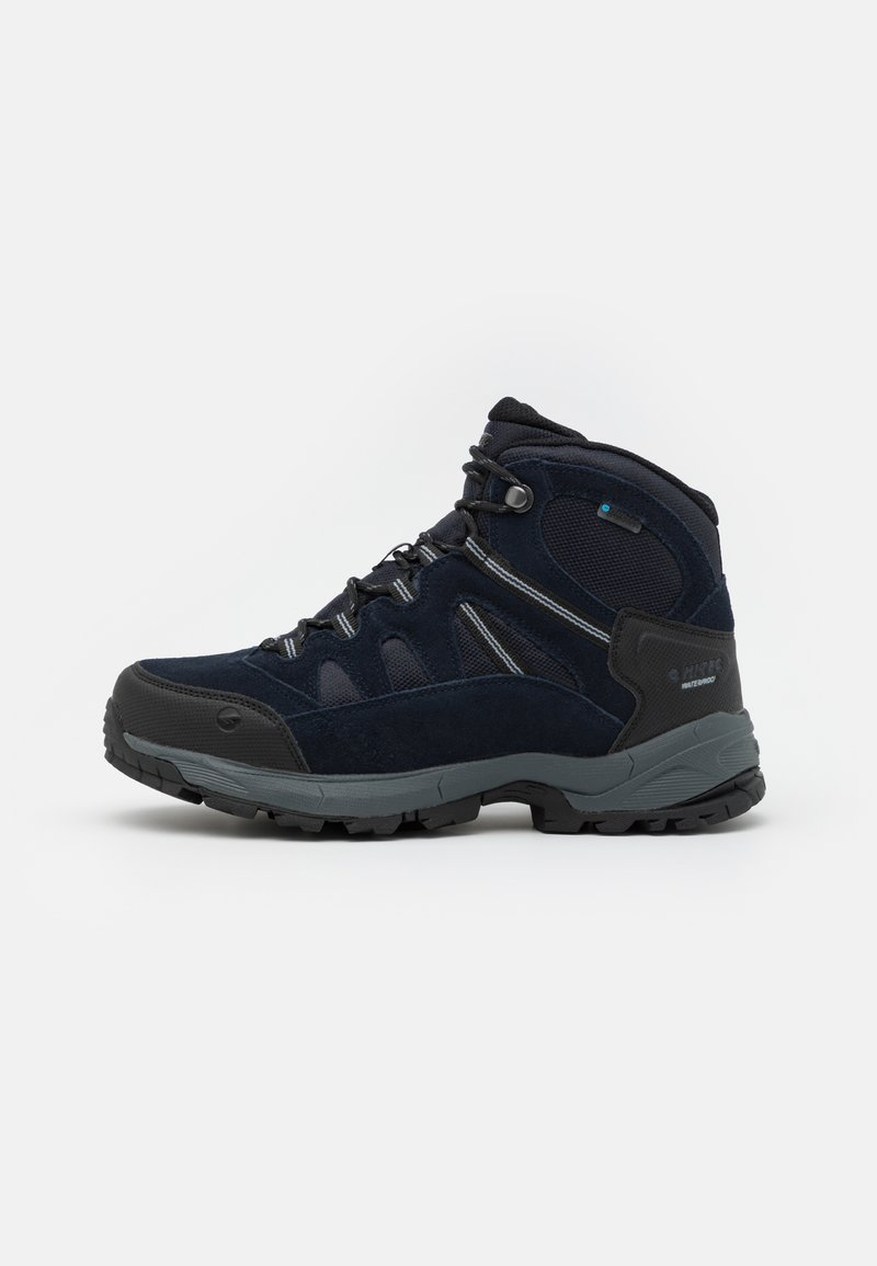 Hi-Tec - BANDERA LITE MID WP - Hiking shoes - sky captain/monument/black