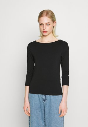 ONLFIFI LIFE BOAT NECK - Long sleeved top - black