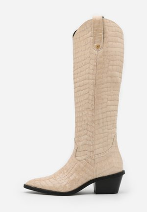 HOLLY KNEE HIGH  - Cowboystøvler - cream white