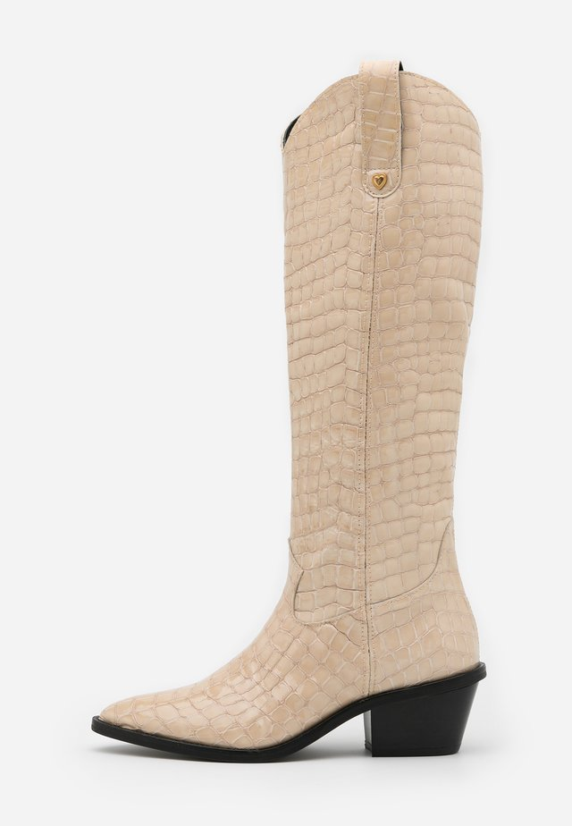 HOLLY KNEE HIGH  - Cowboy/Biker boots - cream white