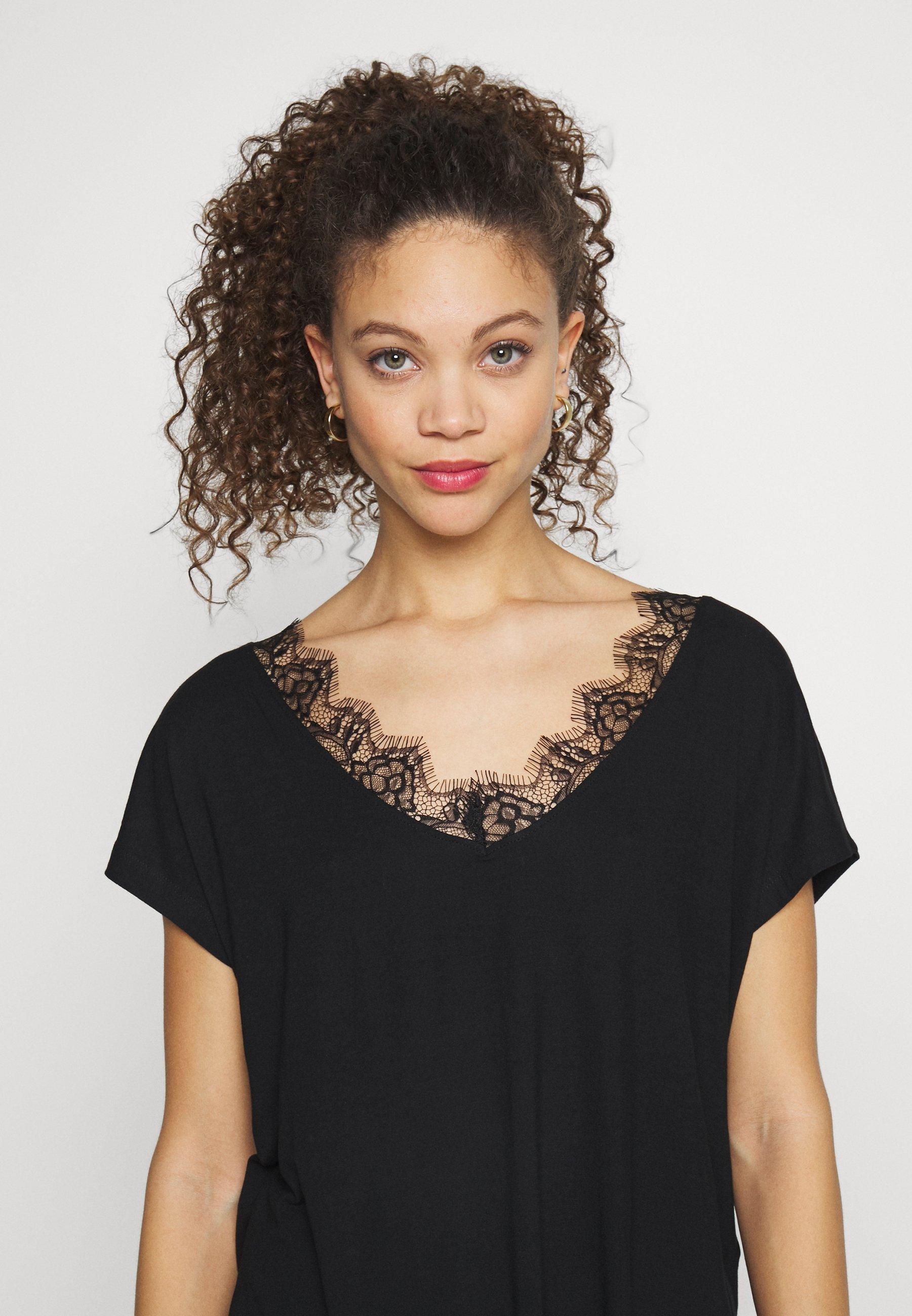 Anna Field Petite T-shirts Med Print - Black/svart