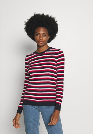 ESSENTIAL CABLE - Sweter - global white