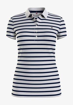 Polo shirt - stripe/ white/ desert sky