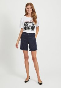 Vila - Print T-shirt - optical snow - 1