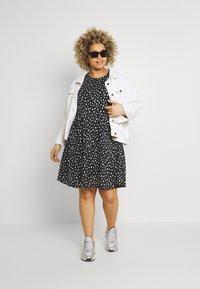 ONLY Carmakoma - CARPELLY PEPLUM DRESS PLUS - Day dress - black - 1
