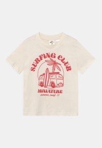 Gina Tricot Mini - MINI TEE UNISEX - T-shirt con stampa - tofu - 0