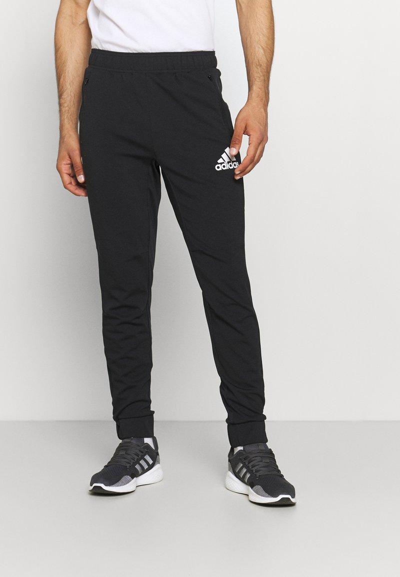 adidas Performance - Träningsbyxor - black/white
