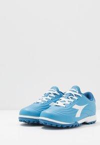 Diadora - PICHICHI 2 TF - Astro turf trainers - sky-blue/white - 3