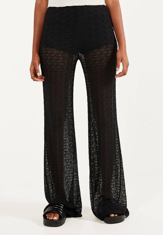 SCHLAGHOSE MIT SPITZE 00216810 - Pantalon classique - black