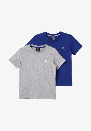 BASICS CREW NECK 2 PACK - Basic T-shirt - grey/blue