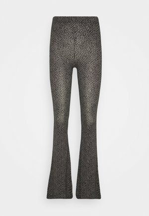 DITSY FLORAL FLARE - Trousers - black
