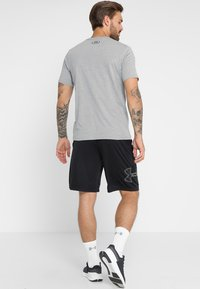 Under Armour - SPORTSTYLE LEFT CHEST - T-shirt basique - steel light heather/black - 2