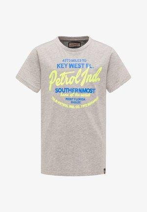 PETROL INDUSTRIES T-SHIRT - T-shirts print - light grey melange