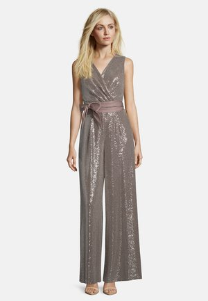 Jumpsuit - taupe/silver