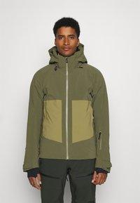 Salomon - EPIC - Winter jacket - olive night/martini olive/white - 0