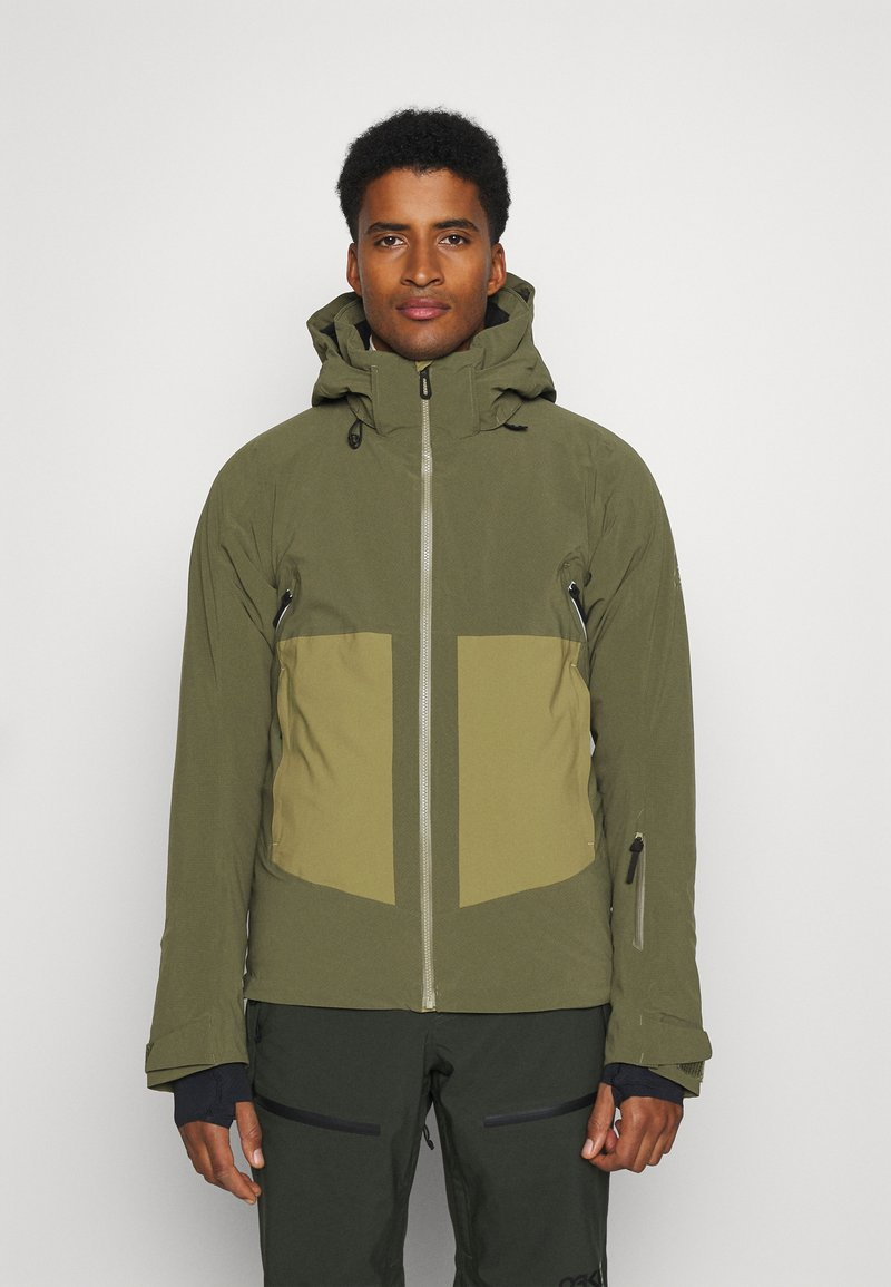 Salomon - EPIC - Winter jacket - olive night/martini olive/white