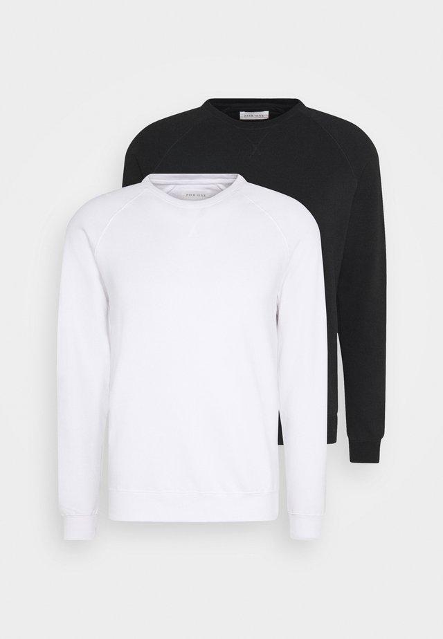 2 PACK - Sweatshirts - white/black