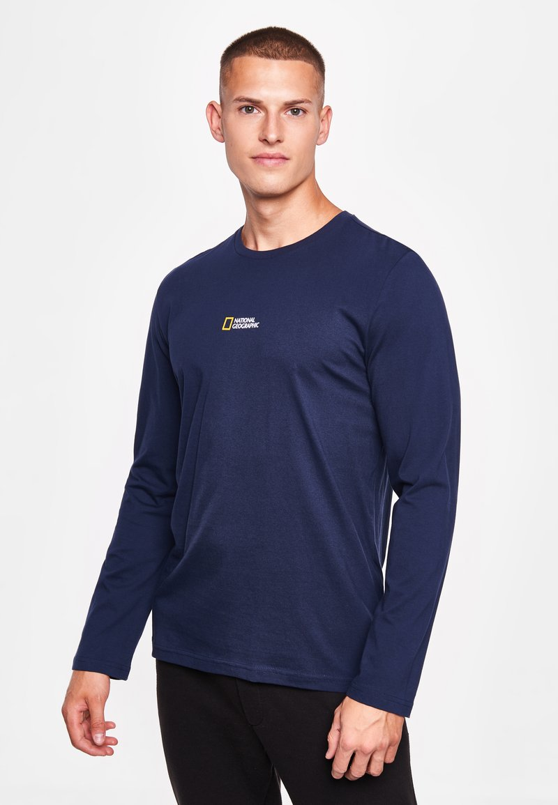 National Geographic - MIT PRINT - Long sleeved top - navy