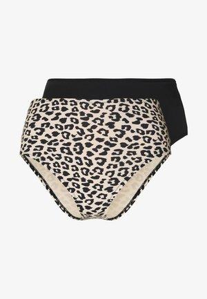 ONLNITAN BRIEF 2 PACK  - Bikini bottoms - black