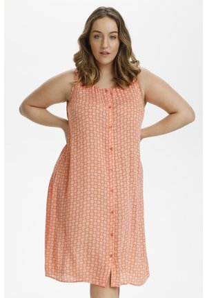 Day dress - coral / chalk small graphic