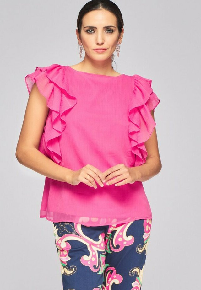 CON MANGAS FRILL - Blouse - rosa