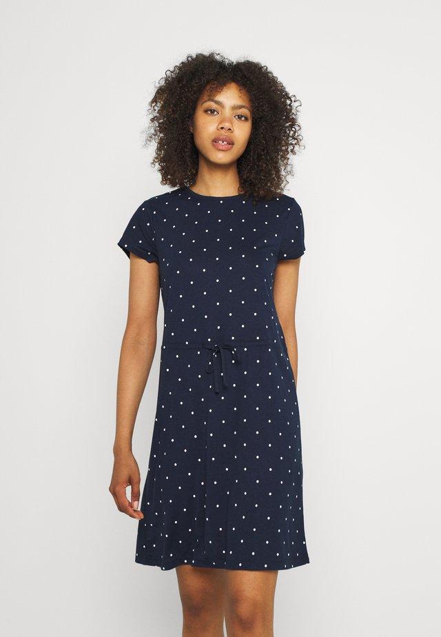 VIMOONEY STRING DRESS - Žerzejové šaty - navy blazer/white