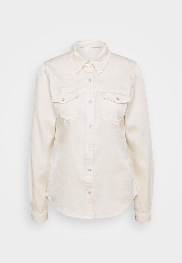 VIBISTA DENIM SHIRT - Button-down blouse - birch
