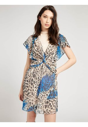LANA DRESS - Day dress - mehrfarbig, grundton blau
