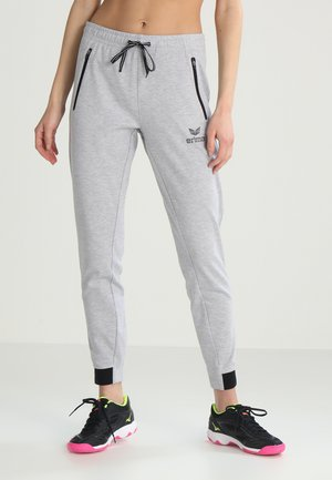 ESSENTIAL  - Tracksuit bottoms - light grey melange/black