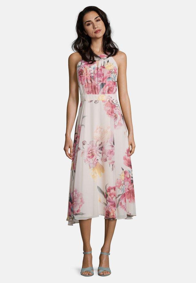 MIT BLUMENPRINT - Day dress - rose/cream