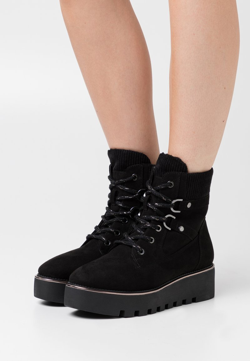 Tamaris - BOOTS - Wedge Ankle Boots - black