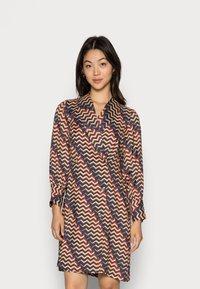 Closet - CLOSET PUFF SLEEVE DRESS - Shirt dress - teal - 0