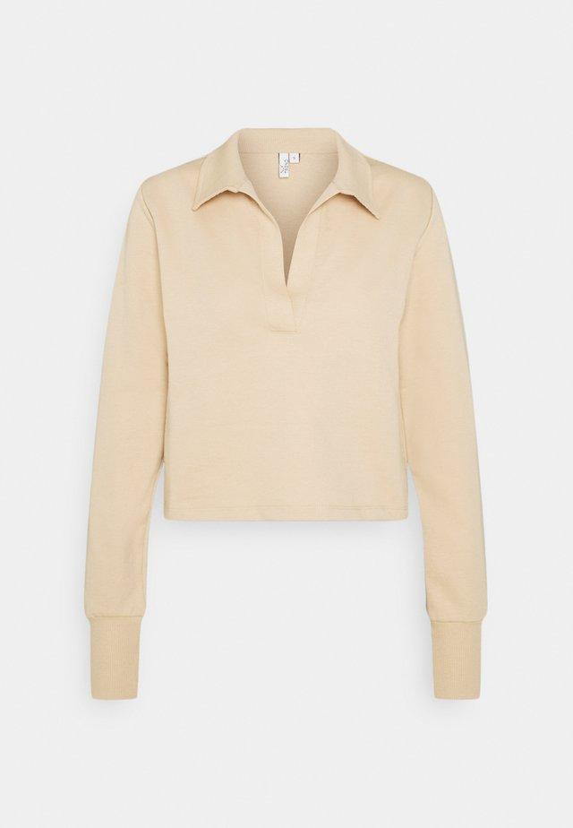 YOUR BEST COLLAR  - Long sleeved top - beige