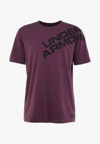 Under Armour - WORDMARK SHOULDER - Triko spotiskem - kinetic purple/black - 5